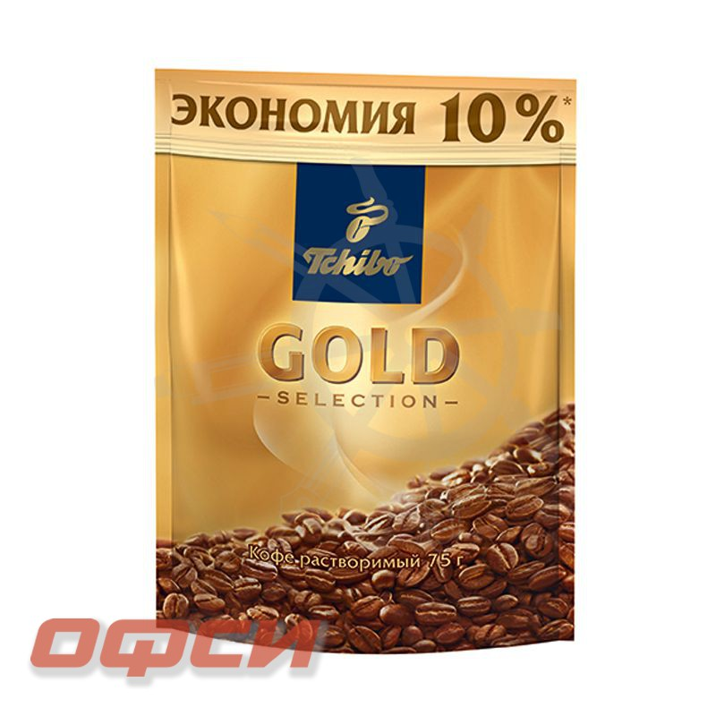 Кофе Tchibo Gold Selection растворимый, пакет, 75 г