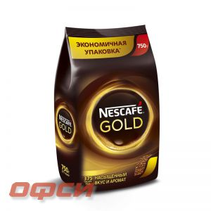 Кофе растворимый Nescafe Gold 750 г (пакет)