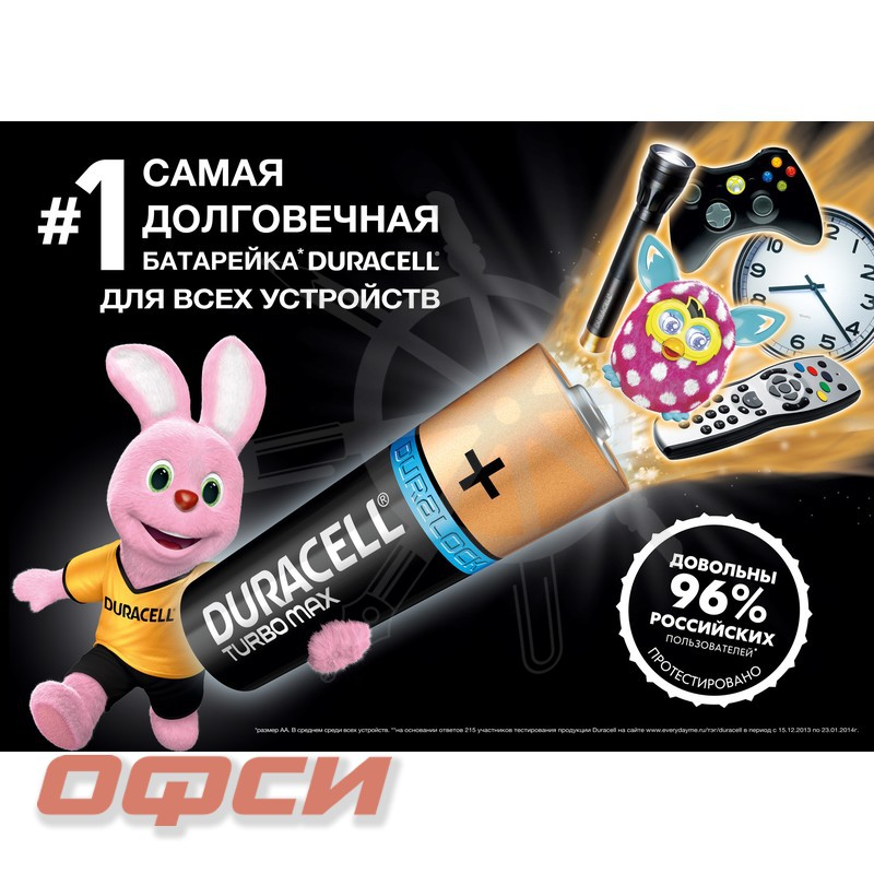 Батарейки Duracell Turbo Max ААA/LR03 2 штуки