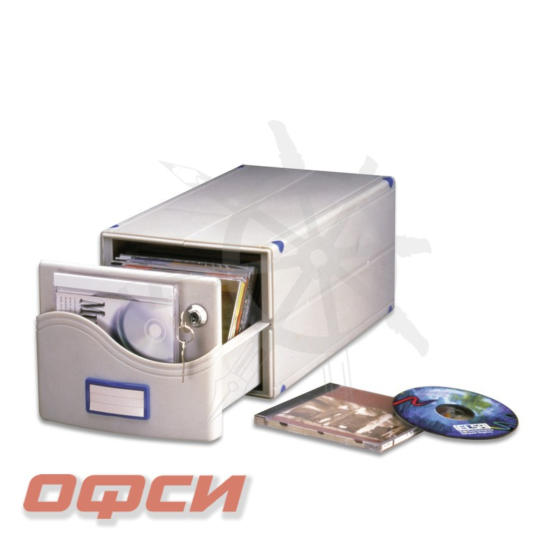 Бокс для 30 CD/DVD Profi Office МВ-30 SL (серый, пластик)